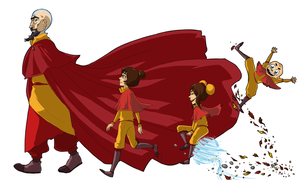 LoK: Three Little Turtleducklings... by AkitheFrivolicious