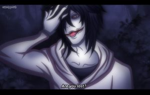 anime screenshot- Jeff the Killer by CandyPout