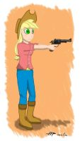 Applejack the Cowgirl by FireFoxProject