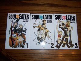 Soul Eater Volumes 1, 2, and 3 by purple-panda64