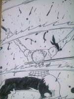 Zoro makes it rain blood by DahamiTheFifth