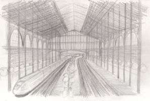 Gare du Nord - croquis by kalistina