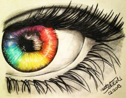 Rainbow In My Eye by KerstinSchroeder