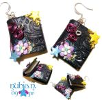 Whimsical Books earrings by colourful-blossom