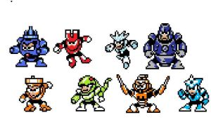 More Robot Masters by Cybersquatch