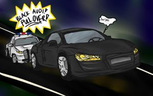Flat Black Audi by Falling-Skyward