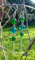 Springtime earrings by Lost-in-the-day