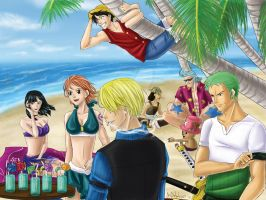 One Piece Beach color by TerraForever