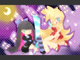 panty and stocking by amanako