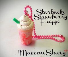 Polymer Clay Starbucks Strawberry Frappe by MaxxeneStacey