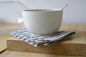 Stoneware soup bowl by scarlet1800