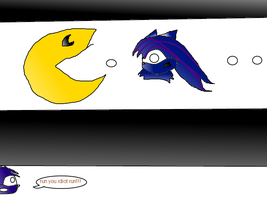 :danger ahead: pacman blue guy by monkiesonunicyclesXD