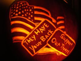 American Flag Pumpkin Carving by DistantVisions