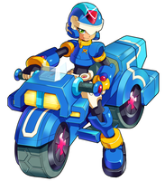 MMZX Ultimus- The Blue Mega Man by ultimatemaverickx