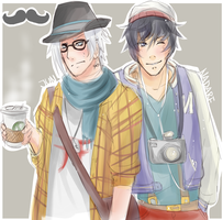 HSV: NadaJun: Hipster men. by MayaNara