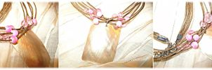 Pink n Tan Necklace by LATINAAM0R