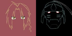 simplified elric brothers by awesomesauce842