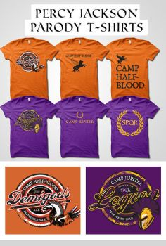 Percy Jackson Parody Shirts by digitalfragrance