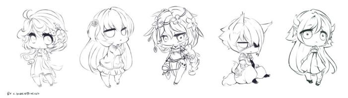 Chibi Line Requests by chocobikies