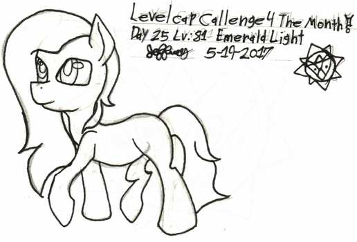 Level-Cap-Challenge-Day-25 Emerald Light by bassmegapokemonlover
