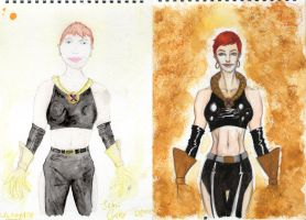 Jean Grey Old-New by x-men-pro