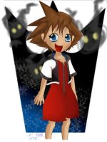Sora and Heartless by black-yoshi