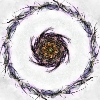 Fractaled Thoughts: Mnemosyne's Rose by Romnil