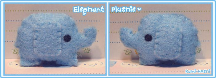 Elephant Plushie by littlepaperforest