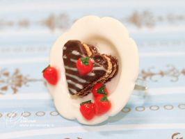 Ring with a cake by OrionaJewelry