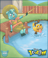 Toontown Fishing by Quatro-Arts