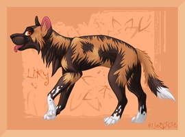African Wild Dog by Alija