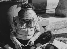 Woman Selling Vegetables by Keith-D