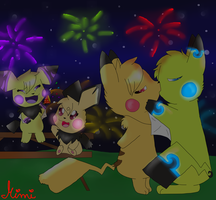 Happy New Years Glowchus by MimiTheFox