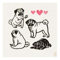 Days 60-63 - Pug party! by SusannH