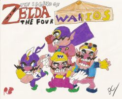 LOZ: The Four Warios by BlackCarrot1129