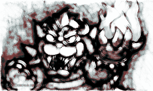 Bowser Sketchy by LordDonovan