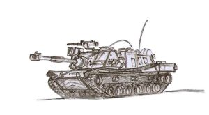 Carandian Main Battle Tank M3 Wolverine by dan338