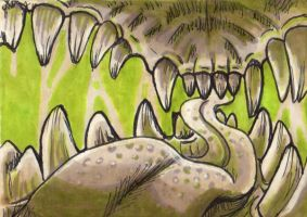 teeth ACEO by AlbinoLupin