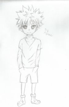 Killua sketch by CottonAngelx