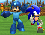 The Blue Bomber and the Blue Blur by ShadowMSD