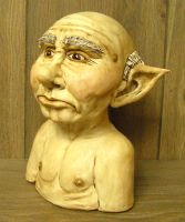 Goblin bust by Gniffies
