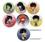 Rurouni Kenshin Badges for AFA 2012 by iwashi-kun