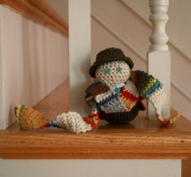 The Fourth Doctor plushie by hookedonchibis