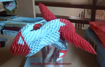 3D Origami Latias by BrownBlurry