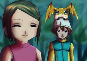 Screencap Redraw - Digimon ZT#2 by uzukun89