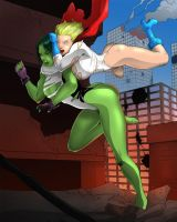 Power Girl vs She-Hulk 2 by venneker