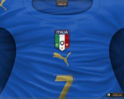 Italy home shirt 2006 by P3P70