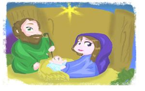 Merry Christmas Holy Family by VioletParrNarnia