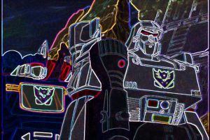 Cyber megatron and soundwave by tritie