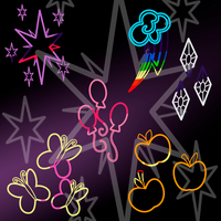 Cutie Mark Photoshop Brushes by LlodsliatLNS